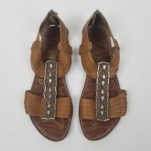 Sam Edelman Garrison Embellished Leather Sandals